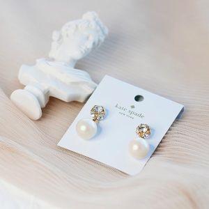 🌷SPRING VIBE🌷Kate Spade Crystal Pearl Earrings